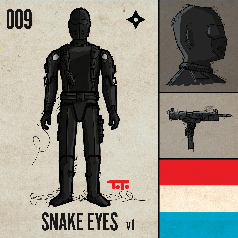1982 G.I Figure Torso Replacement Part v1 Joe Snake Eyes